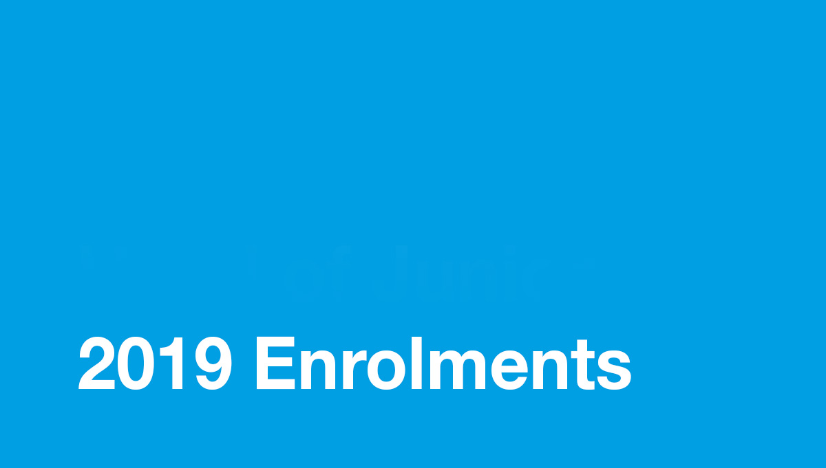 Image for 2019 Enrolments