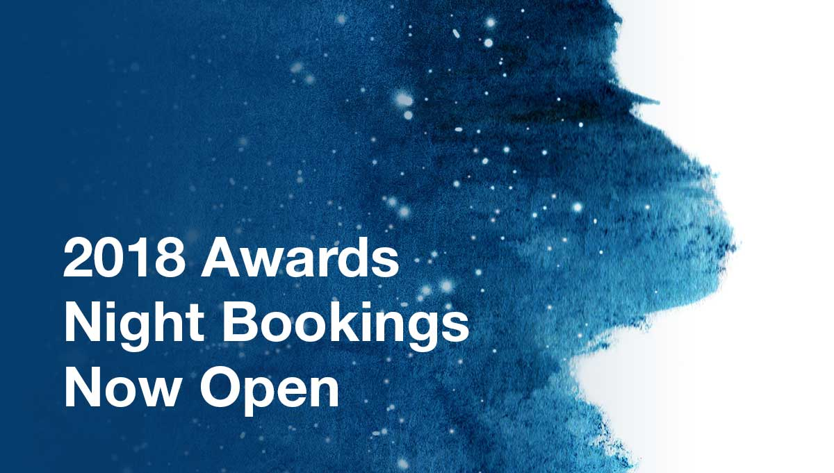 Image for Awards Night Bookings Now Open