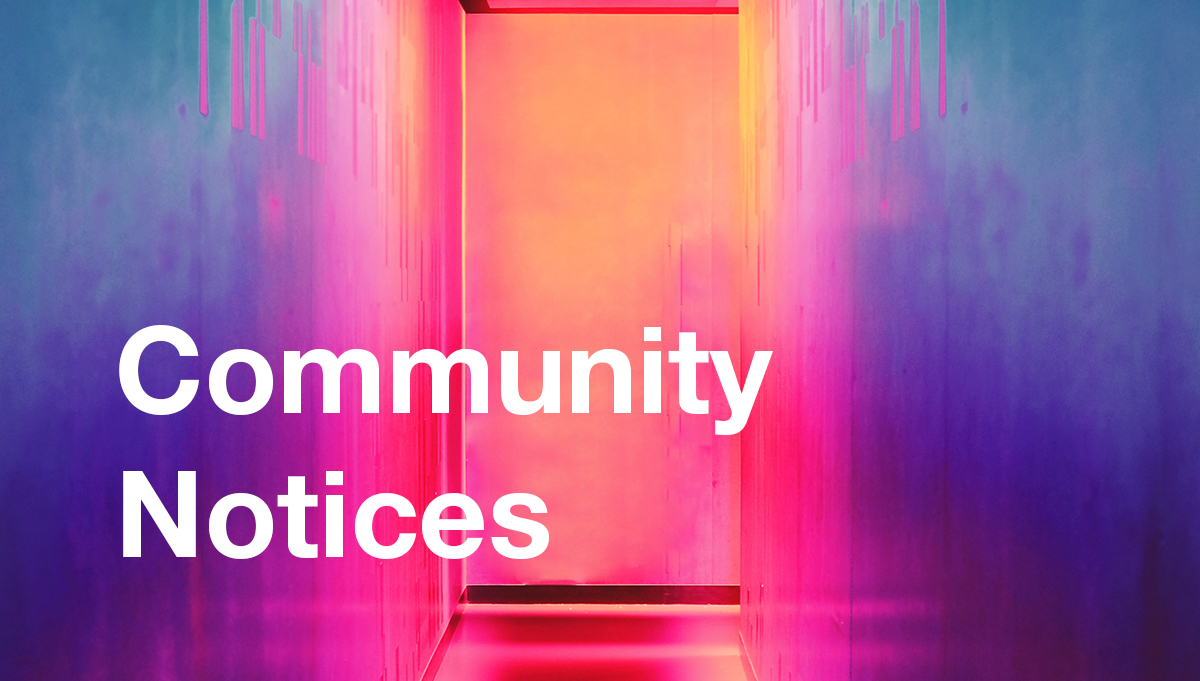 Image for Community Notices, Term 3 Week 8