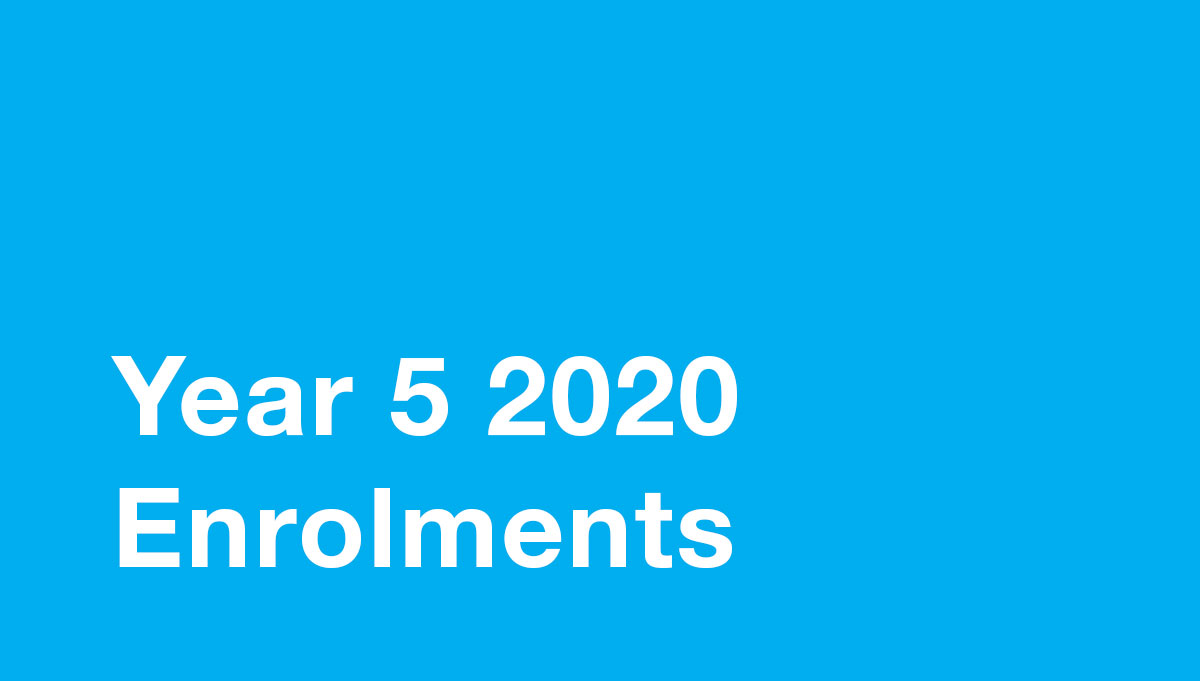 Image for Year 5 2020 Enrolments