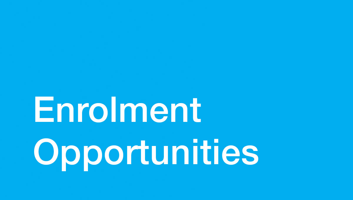 Image for 2020 Enrolment Opportunities