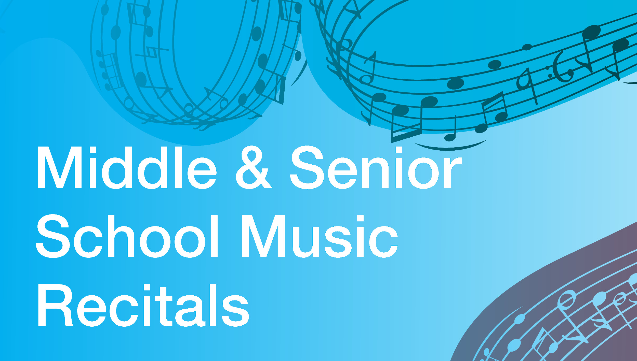 Image for Middle and Senior School Music Recitals