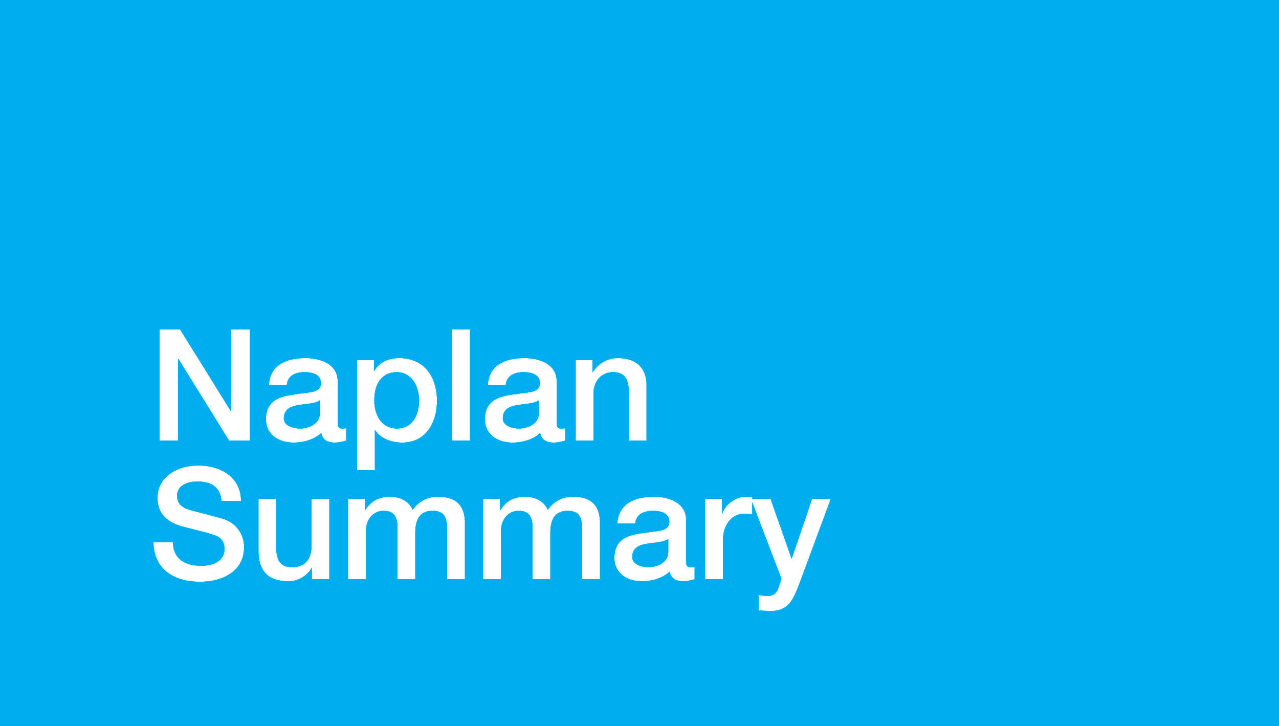 Image for NAPLAN Summary for Middle School