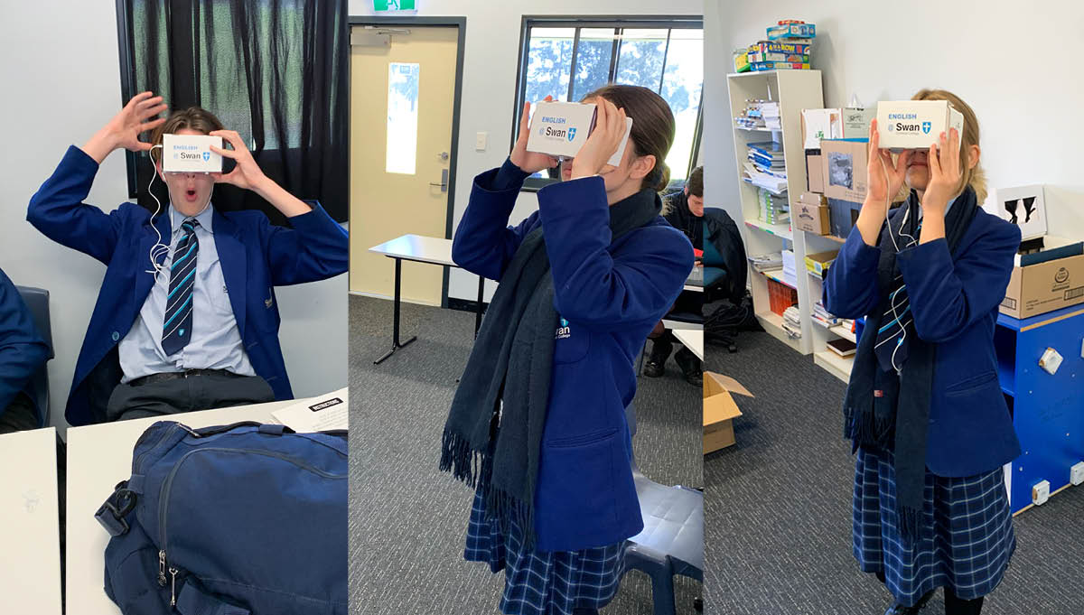 Image for Students explore Virtual Reality